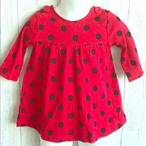 Gymboree Red & Black Polka Dot Dress